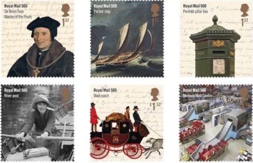 500 let britské královské pošty