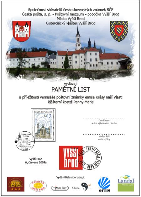 750 let od založení kláštera města Vyšší Brod