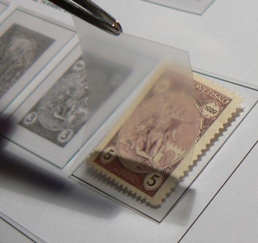Albové listy CONTOUR - poštovní známky
