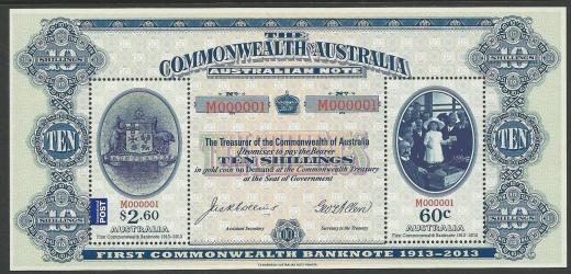 Bankovka na poštovní známce