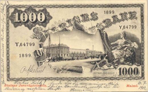Bankovky na pohlednicích