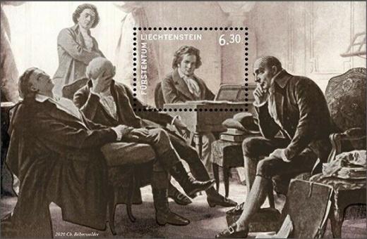 Beethoven s přáteli u klavíru