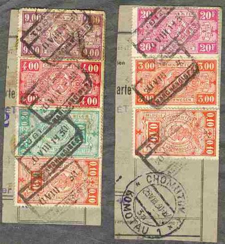 Belgické železniční známky