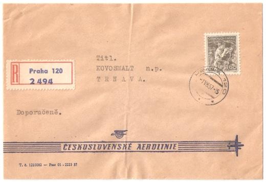 Bežná obálka leteckej pošty