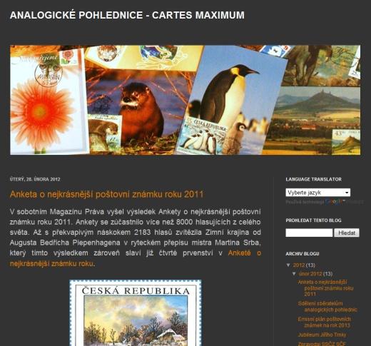 Blog pro sběratelé analogických pohlednic