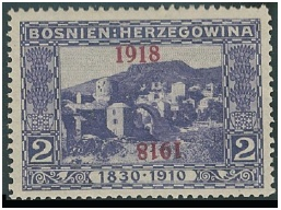 Bosna a Hercegovina: výpomocné vydání 1918