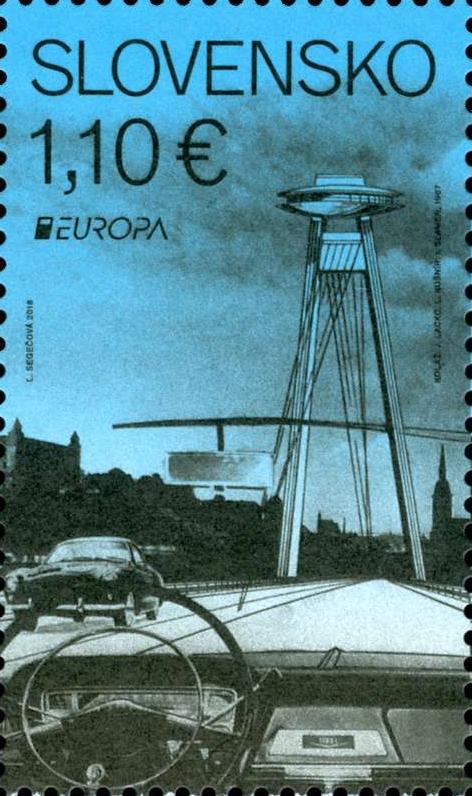 Bratislavský most SNP na poštovní známce