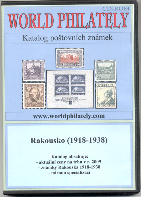 CD-ROM katalog World Philately 2009 – Rakousko (1918-1938) - novinka!