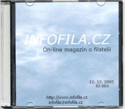 CD-ROM plný filatelie on-line magazínu Infofila