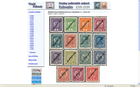 CD-ROM World Philately 2009 – Rakousko (1918-1938)