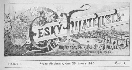 Český filatelista - 25. února 1896