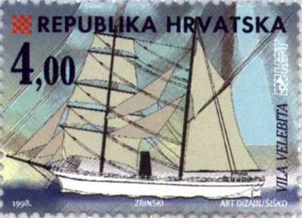 Chorvatská známka se vztahem k Čechům a Slovákům