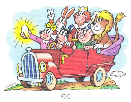 Čtyřlístek ve službách krále - známkový sešitek