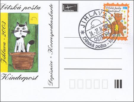 Dětská pošta na výstavě Ostropa 2003