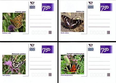Dopisnice: Motýli České republiky