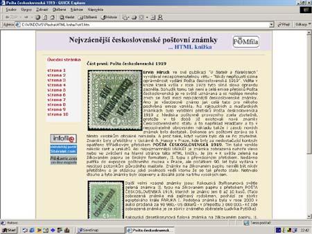 Edice POMfila vydává: HTML knížku - Nejvzácnější československé poštovní známky