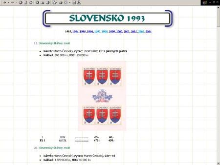 Edice POMfila vydává: Specializovaný katalog Slovensko (1993-2003)