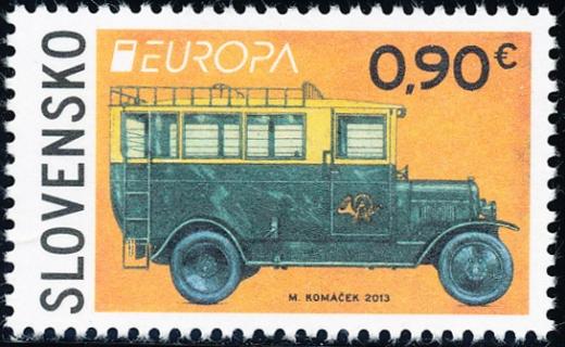 EUROPA 2013: Poštové vozidlo