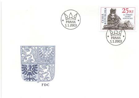 FDC 10. výročí České republiky