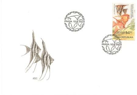 FDC Chovatelství - Akvarijní rybičky 14 Kč