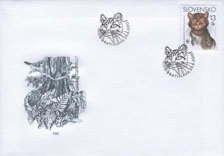FDC Európska mačka divá - 13 Sk