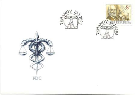 FDC Osobnosti roku 2003 - Josef Thomayer