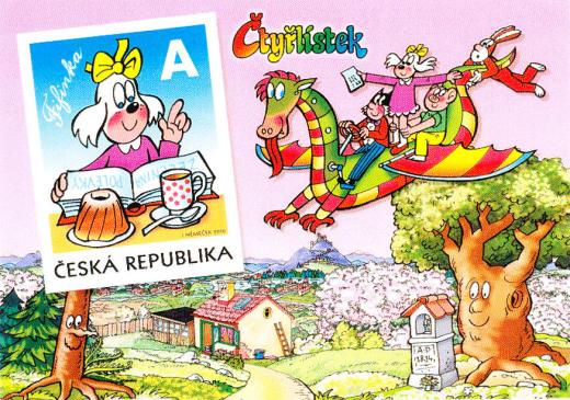 FIFINKA - pohlednice s natištěnou známkou