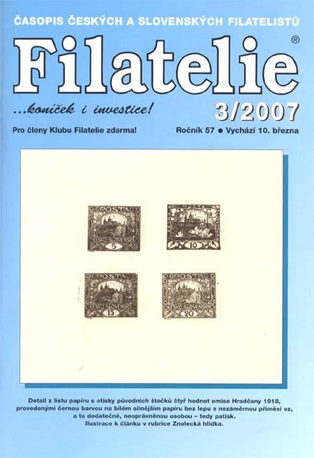 Filatelie 3/2007