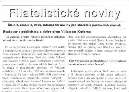 Filatelistické noviny 2/2006