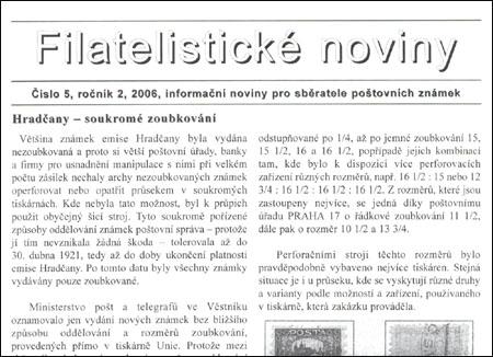 Filatelistické noviny 5/2006