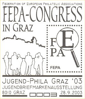 Filatelistický materiál k výstavě a setkání v Grazu