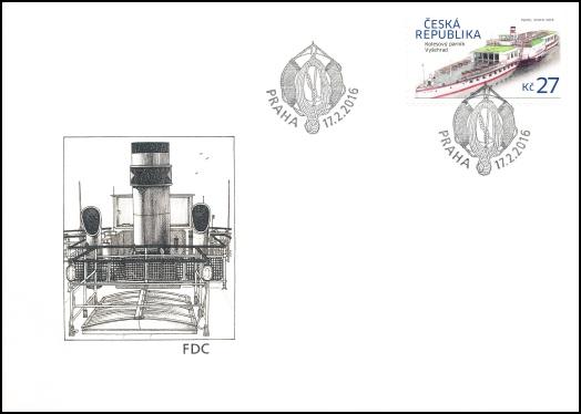 Historické dopravní prostředky - kolesový parník Vyšehrad