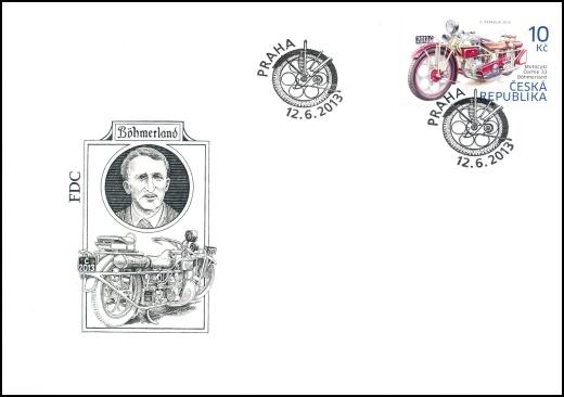 Historické dopravní prostředky: Motocykl Čechie 33 - Böhmerland