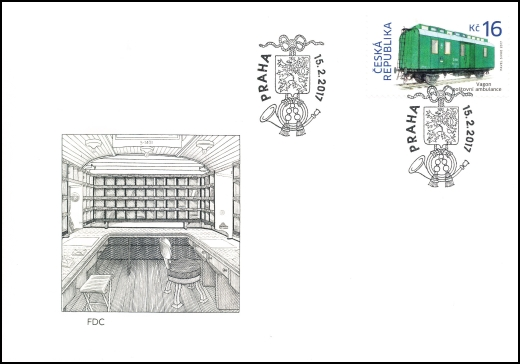 Historické dopravní prostředky - vagón poštovní ambulance
