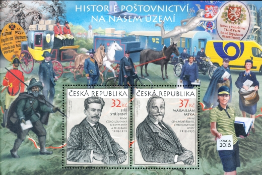 Historie poštovnictví na našem území - aršík