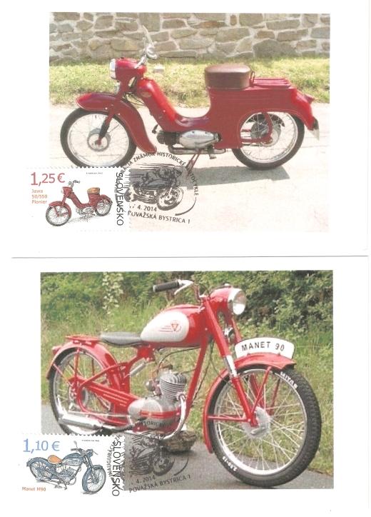 Inaugurácia známok Historické motocykle