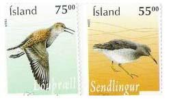 Islandské známky s námětem vodních ptáků