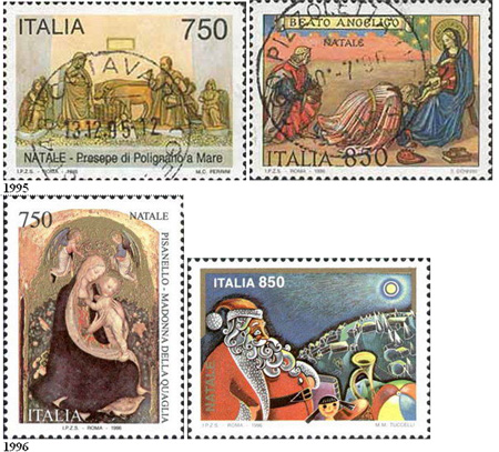 Italské vánoční známky 1970 – 2005