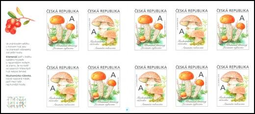 Jedlé houby - známkový sešitek