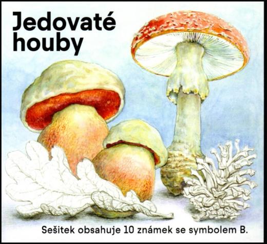 Jedovaté houby - známkový sešitek