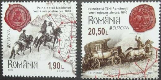 Ještě jedno ohlédnutí za letošními známkami EUROPA - Poštovní cesty