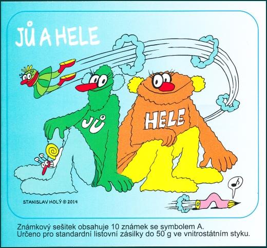 Jů a Hele - známkový sešitek