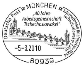 Karlův most na připravovaném německém příležitostném razítku
