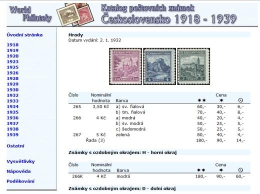 Katalog poštovních známek - Československo (1918-1939) - World Philately 2016