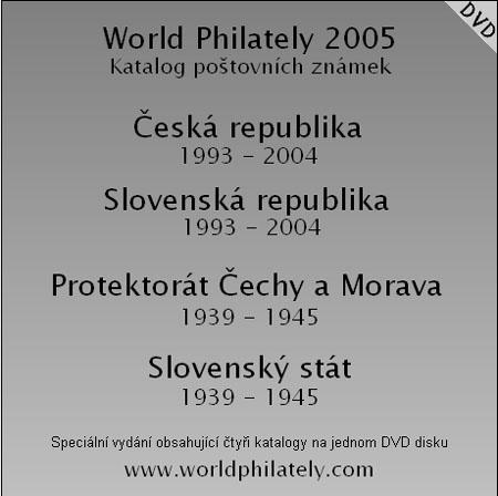 Katalogy World Philately 2005 – sada 4x CD nebo 1x DVD
