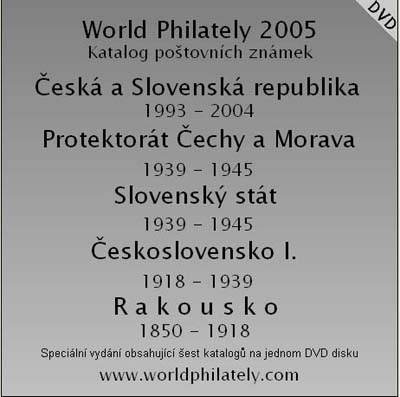 Katalogy World Philately 2005 – sada 6x CD nebo 1x DVD
