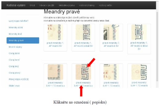 Košická vydání – katalog deskových vad