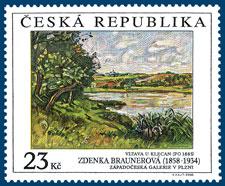 Křest poštovní známky s motivem obrazu Zdenky Braunerové
