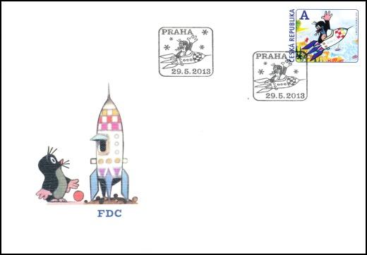 Krtek a raketa - známkový sešitek