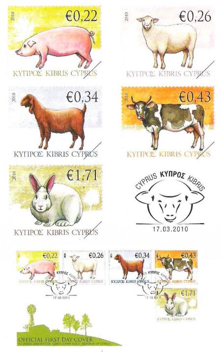 Kyperská pošta vydá sérii - domácí zvířata